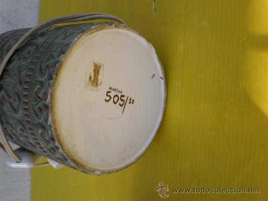 Antigüedades: lampara de ceramica - Foto 2 - 17474002