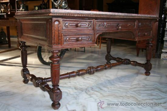 Antigüedades: MESA DE DESPACHO 1900,ROBLE REF.4526 - Foto 2 - 26067887