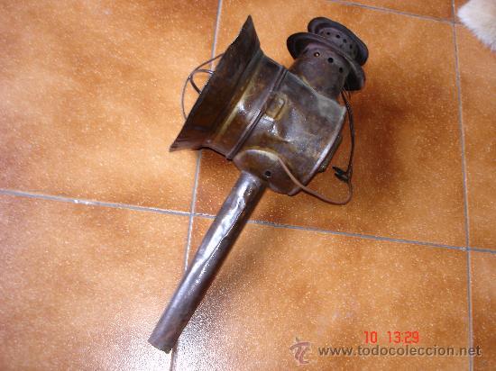 ANTIGUO FAROL DE CARRO (Antigüedades - Iluminación - Faroles Antiguos)