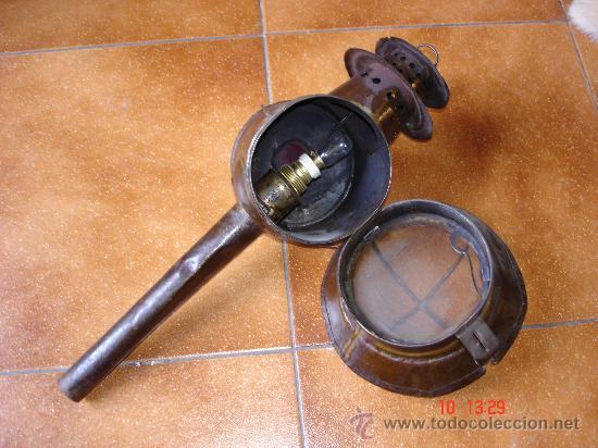 Antigüedades: ANTIGUO FAROL DE CARRO - Foto 2 - 26741422