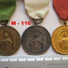 Antigüedades: LOTE DE 3 MEDALLA S DE BUENA CONDUCTA COLEGIO SAGRADO CORAZÓN DE JESÚS. ENVÍO CERTIFICADO GRATUITO. . Lote 24130244