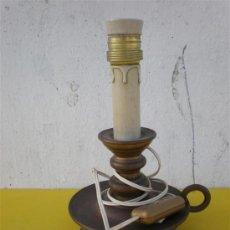 Antigüedades: VELON EN LAMPARA DE BRONCE. Lote 17487775