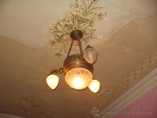 Lampara de techo comprar l mparas antiguas en todocoleccion 26832537 - Lamparas pegadas al techo ...