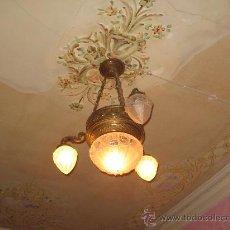 Antigüedades: LAMPARA DE TECHO. Lote 26832537