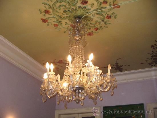 GRAN LAMPARA DE ARAÑA IDEAL PARA TIENDA O VIVIENDA (Antigüedades - Iluminación - Lámparas Antiguas)