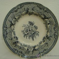 Antigüedades: ANTIGUO PLATO HONDO DE PORCELANA INGLESA. Lote 26774312