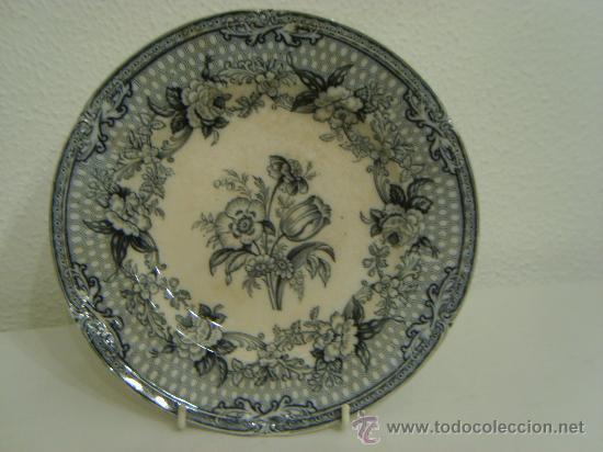 Antigüedades: ANTIGUO PLATO LLANO DE PORCELANA INGLESA - 1848 - Foto 2 - 69792439