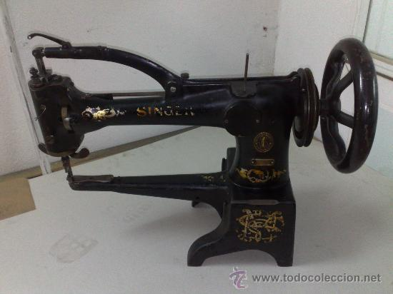 singer maquina de coser de zapatero - Comprar Antigüedades