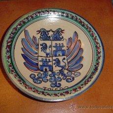 Antigüedades: PLATO PUENTE DEL ARZOBISPO TOLEDO. ESCUDO AGUILA.. Lote 27612818