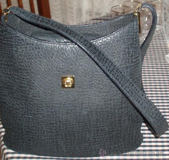 Antigüedades: bolso versace original de piel de foca en color negro - Foto 3 - 26969660