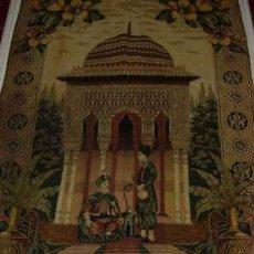 Antigüedades: ANTIGUO Y PRECIOSO TAPIZ CON MOTIVO ORIENTAL DE LA INDIA, PLENO DE ROMANTICISMO - PROPIO PARA RESTAU. Lote 26329253