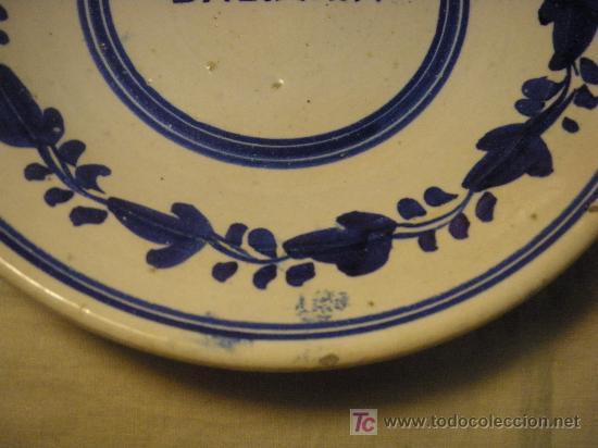 Antigüedades: PLATO HONDO ANTIGUO DE CERAMICA ARAGONESA - Foto 4 - 26255252