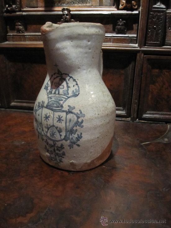 Antigüedades: PRECIOSA JARRA DE TALAVERA DEL S. XVII, CON ESCUDO DE LA ORDEN CARMELITA - Foto 2 - 17641200