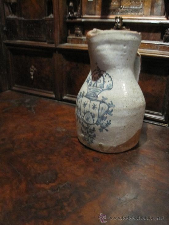 Antigüedades: PRECIOSA JARRA DE TALAVERA DEL S. XVII, CON ESCUDO DE LA ORDEN CARMELITA - Foto 7 - 17641200