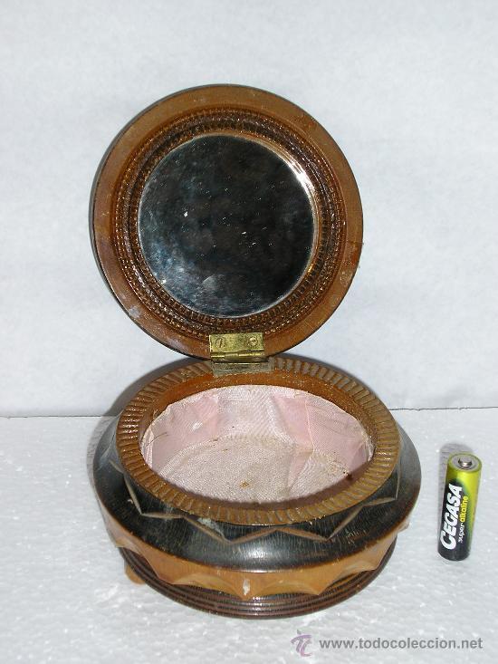 Antigüedades: CAJA COSTURERO/ JOYERO DE MADERA TALLADA - Foto 2 - 22069324