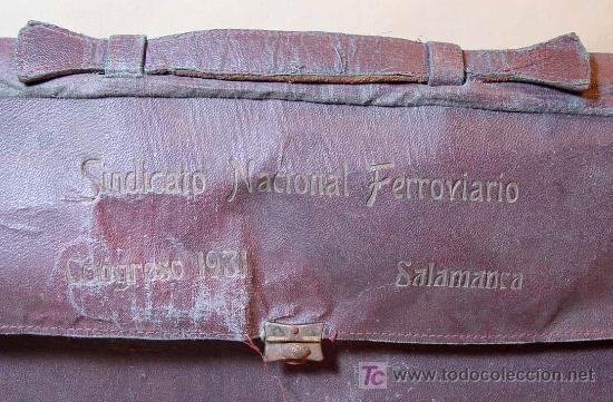 MALETIN, SINDICATO NACIONAL FERROVIARIO, CONGRESO 1931, SALAMANCA, (Antigüedades - Moda y Complementos - Hombre)