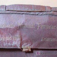 Antigüedades: MALETIN, SINDICATO NACIONAL FERROVIARIO, CONGRESO 1931, SALAMANCA,. Lote 17707321