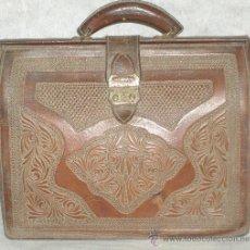 Antigüedades: PRECIOSA CARTERA DOCUMENTOS - MUY SOLIDA Y ORIGINAL - VER FOTOS.. Lote 17717902
