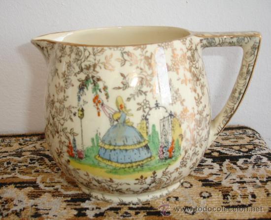 MUY BONITA LECHERA - EMPIRE POTTERY STOKE ON TRENT, IVORY WARE. (Antigüedades - Porcelanas y Cerámicas - Inglesa, Bristol y Otros)