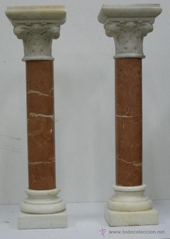 pareja preciosas columnas antiguas de marmol comprar