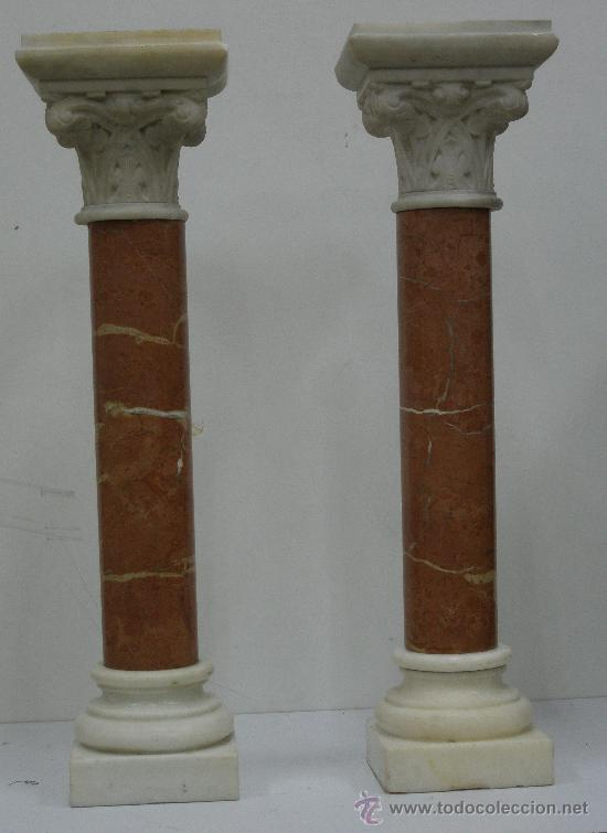 Pareja preciosas columnas antiguas de marmol comprar - Columna de marmol ...