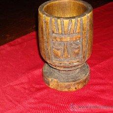 Antigüedades: MORTERO DE MADERA. Lote 26735961