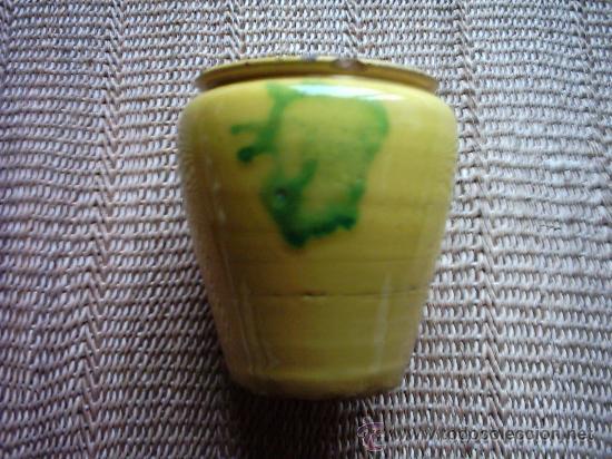 ANTIGUA ORZA DE CERÁMICA DE TRIANA. 12 X 11 CM. (Antigüedades - Porcelanas y Cerámicas - Triana)
