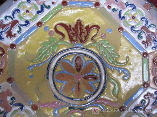 GRAN PLATO DE TRIANA SIGLO XIX CUERDA SECA. (Antigüedades - Porcelanas y Cerámicas - Triana)