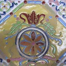 Antigüedades: GRAN PLATO DE TRIANA SIGLO XIX CUERDA SECA.. Lote 26468219