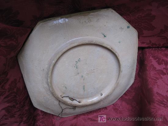 Antigüedades: GRAN PLATO DE TRIANA SIGLO XIX CUERDA SECA. - Foto 3 - 26468219