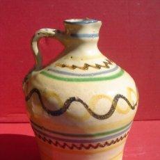 Antigüedades: ALCUZA- JARRA EN CERAMICA DE PUENTE DEL ARZOBISPO. TOLEDO. S.XIX.. Lote 31961565