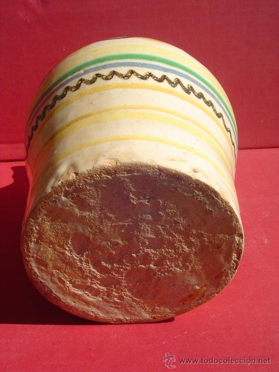 Antigüedades: Alcuza- Jarra en ceramica de Puente del Arzobispo. Toledo. S.XIX. - Foto 3 - 31961565