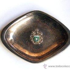 Antigüedades: BANDEJA METALICA / ESCUDO DE BARBASTRO / AÑOS 70 / HUESCA. Lote 17849627
