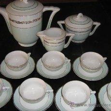 Antigüedades - ANTIGUO JUEGO DE CAFE FRANCES MOULIN - 23852493