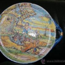 Antigüedades: PLATO DE SOTOMAYOR. MOTIVOS DEL QUIJOTE.. Lote 17863434