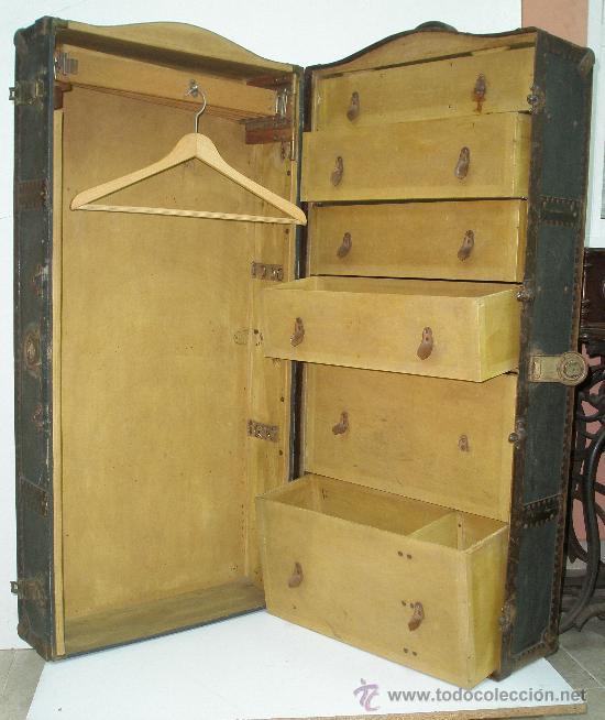 Antiguo ba l ropero de viaje gran tama o ver vendido en subasta 17865117 - Ropero antiguo ...