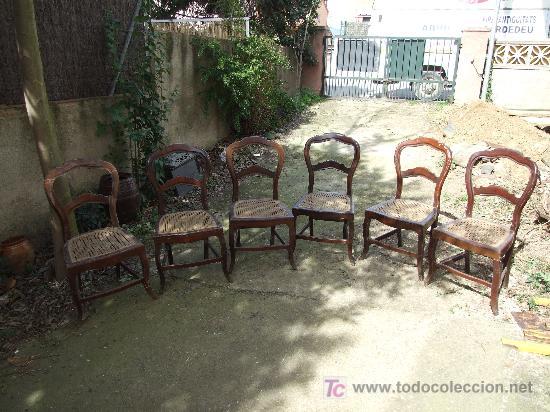 Silla caoba 6 sillas isabelinas de caoba para comprar - Restaurar sillas antiguas ...