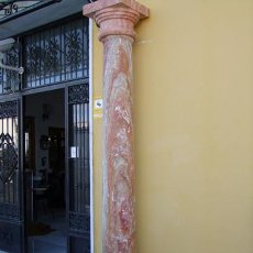 Antigüedades: COLUMNA TRAVERTINO REF.4530. Lote 20258006