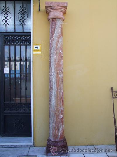 Antigüedades: COLUMNA TRAVERTINO REF.4530 - Foto 2 - 20258006