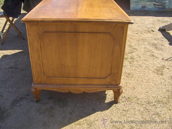 Antigüedades: Mesa de Despacho antigua madera de castaño - Foto 3 - 195149222