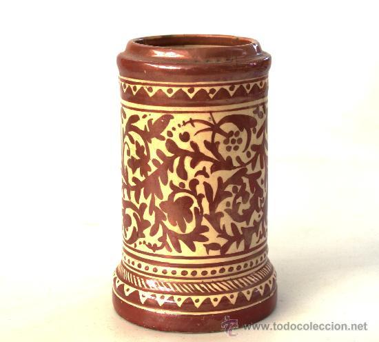 MANISES - ALBARELO O POTE DE REFLEJOS S. XIX - XX (Antigüedades - Porcelanas y Cerámicas - Manises)