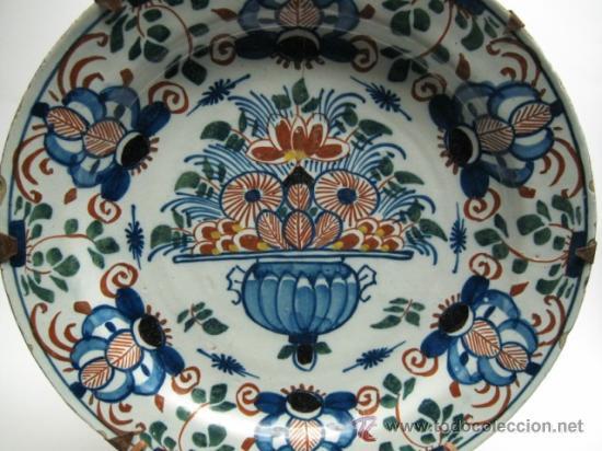 PRECIOSO PLATO DEL SG.XVII - XVIII. MIDE 31 CM.CERAMICA DE DELFT HOLANDA, VER FOTOS (Antigüedades - Porcelana y Cerámica - Holandesa - Delft)