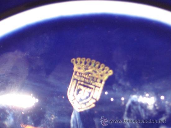 Antigüedades: JOYERO DE PORCELANA LIMOGE FRANCES AZUL COBALTO Y ORO.CON UNA PAREJA VICTORIANA EN LA CAJA. - Foto 5 - 26512218