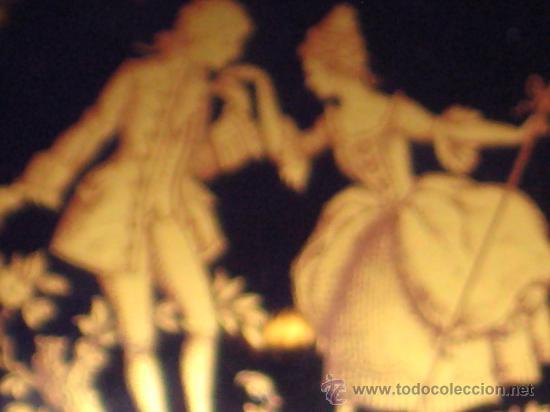 Antigüedades: JOYERO DE PORCELANA LIMOGE FRANCES AZUL COBALTO Y ORO.CON UNA PAREJA VICTORIANA EN LA CAJA. - Foto 8 - 26512218