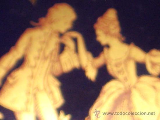 Antigüedades: JOYERO DE PORCELANA LIMOGE FRANCES AZUL COBALTO Y ORO.CON UNA PAREJA VICTORIANA EN LA CAJA. - Foto 13 - 26512218