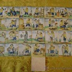 Antigüedades: 29 LADRILLOS DE OFICIOS, 7,5 X 7,5CTMS. Lote 157930617