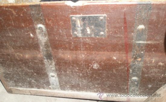 Antigüedades: Baúl de 49x40x70 cms, con cerradura sin llave, a restaurar - Foto 3 - 24888837
