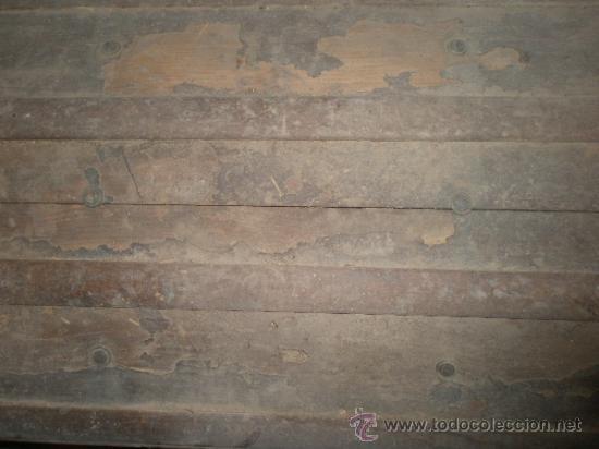 Antigüedades: Baúl de 49x40x70 cms, con cerradura sin llave, a restaurar - Foto 4 - 24888837