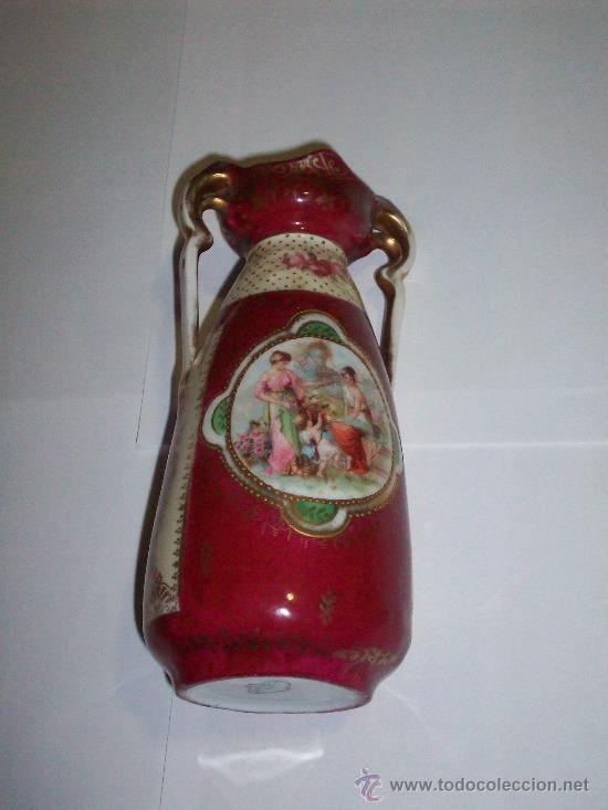 JARRON EN PORCELANA DE SELB.H.1900.MARCAS EN LA BASE. (Antigüedades - Porcelana y Cerámica - Alemana - Meissen)