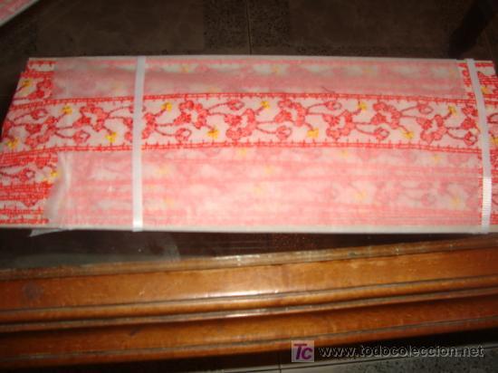 Antigüedades: 6 metros , x 4 cm de ancho precioso encaje tul entredos bordado..... - Foto 2 - 18000084